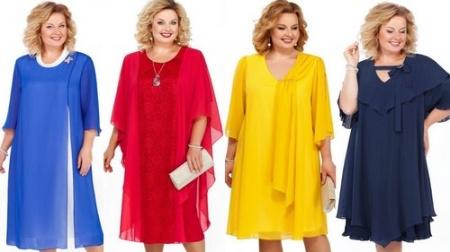 Смотрим коллекции женских платьев большого размера